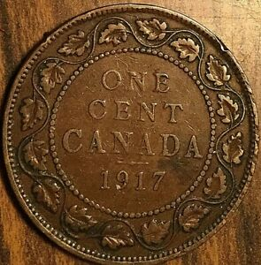 1917 CANADA LARGE 1 CENT PENNY COIN