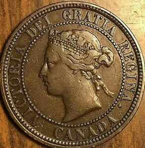 1876H CANADA LARGE CENT PENNY COIN
