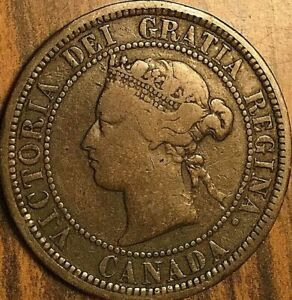 1881H CANADA LARGE CENT PENNY COIN