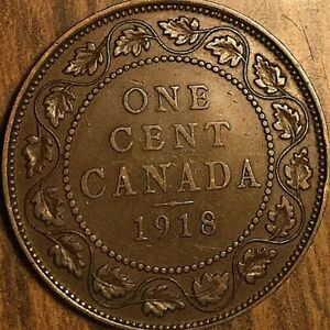 1918 CANADA LARGE CENT PENNY COIN