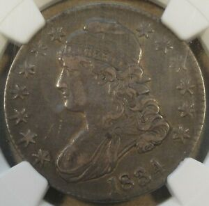 1834 CAPPED BUST HALF DOLLAR 50C NGC CERTIFIED XF40