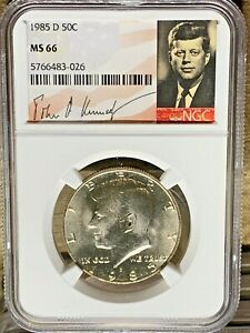 1985 D KENNEDY NGC GRADED MS 66 SIGNATURE LABEL 43 026