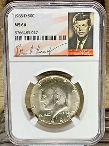 1985 D KENNEDY NGC GRADED MS 66 SIGNATURE LABEL 43 027