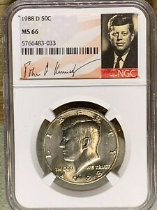 1988 D KENNEDY NGC GRADED MS 66 033S