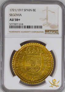 Click now to see the BUY IT NOW Price! FINEST KNOWN  SPAIN 8 ESCUDOS 1721/19