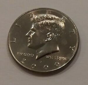 COLLECTABLE 2000 KENNEDY HALF DOLLAR CIRCULATED DENVER MINT  VINTAGE COIN