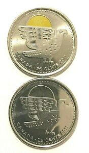 CANADIAN QUARTERS WITH INUIT ART