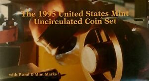 US MINT 1995 UNCIRCULATED 10 COIN SET WITH P&D MINT MARKS IN ORIGINAL PACKAGING