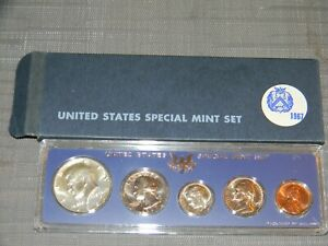 1967 SPECIAL MINT SET SMS IN GENUINE US MINT SET HOLDER & BOX SILVER KENNEDY