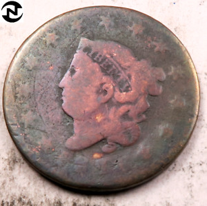 1816 CORONET HEAD LARGE CENT // AG //  LC994