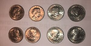 LOT OF 8  1980 D SUSAN B ANTHONY DOLLAR ROLL FRESH CHOICE BU CONDITION US COIN