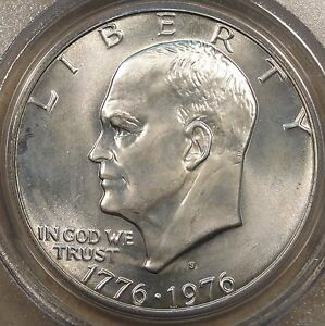 1976 S SILVER EISENHOWER DOLLAR PCGS CERTIFIED MS65 PURCHASED LATE 90'S