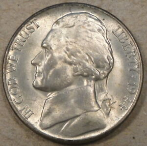 1944 D JEFFERSON NICKEL 5C SILVER WAR ISSUE AS PICTURED