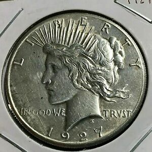 1927 PEACE SILVER DOLLAR BETTER DATE COIN
