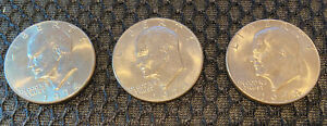 1974 D EISENHOWER DOLLARS  LOT OF 3  CIRCULATED EXCELLENT CONDITION
