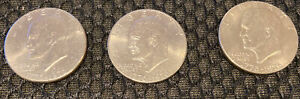1976 D EISENHOWER DOLLARS  LOT OF 3  CIRCULATED EXCELLENT CONDITION