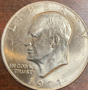 1971 P EISENHOWER DOLLAR  IKE UNC. CLAD COIN.$1 ABOUT UNCIRCULATED