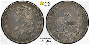 HALF DOLLARS CAPPED BUST LETTERED EDGE 1817 P PCGS VF 35   OVERTON 106A