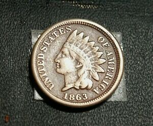 LOT OF 6 EARLY INDIAN HEAD CENTS     1863    1867  G TO F  GRADES    63 26