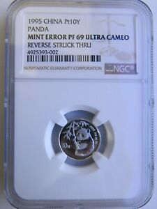 Click now to see the BUY IT NOW Price! 1995 1/10 OZ CHINA PLATINUM MINT ERROR PANDA NGC PF69 UC 10 YUAN CHINESE COIN