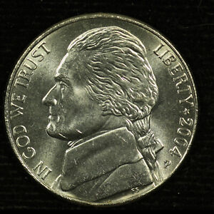 JEFFERSON NICKEL. 2004 P. PEACE MEDAL UNCIRCULATED. LOT  9037 71 004
