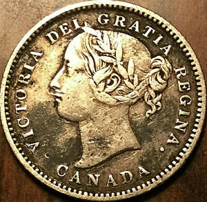 1881H CANADA SILVER 10 CENTS   OBV1 VARIETY