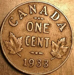 1933 CANADA SMALL CENT COIN