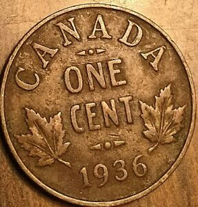 1936 CANADA SMALL CENT COIN