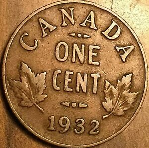 1932 CANADA SMALL CENT COIN