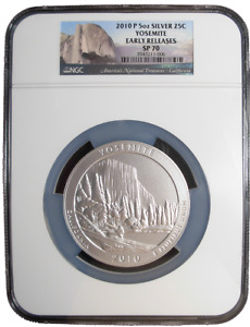 Click now to see the BUY IT NOW Price! 2010 P SILVER 5 OZ YOSEMITE SILVER NATIONAL PARKS ATB NGC SP70 EARLY RELEASES