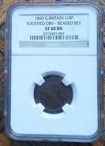 Click now to see the BUY IT NOW Price! GREAT  BRITAIN UK COIN FARTHING 1860 MULE  NGC XF 40 BN