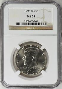 Click now to see the BUY IT NOW Price! 1993 D KENNEDY HALF DOLLAR 50C NGC MS67