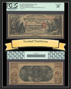 Click now to see the BUY IT NOW Price! TT FR 1136 1870 $5 NATIONAL GOLD BANK SAN FRANCISCO CH  1741 PCGS 20