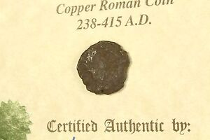3RD CENTURY AD AUTHENTIC ROMAN COIN WITH CERTIFICATE OF AUTHENTICITY
