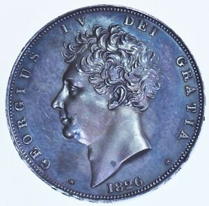 Click now to see the BUY IT NOW Price! LY FINE 1826 PROOF CROWN BRITISH SILVER COIN FROM GEORGE IV AFDC