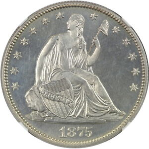 Click now to see the BUY IT NOW Price! 1875 50C NGC PF64