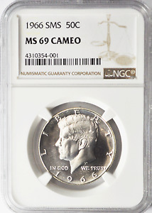 Click now to see the BUY IT NOW Price! 1966 SMS 50C KENNEDY SILVER HALF DOLLAR  NGC MS69 CAMEO