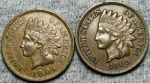 1904   1906 INDIAN HEAD CENTS     STUNNING LOT     U142