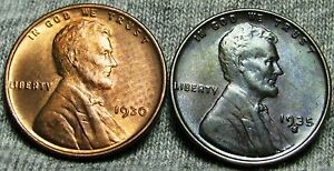 1930   1935 S LINCOLN WHEAT CENTS     GEM BU   CONDITION LOT     W479