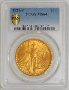 Click now to see the BUY IT NOW Price! 1925 S $20 SAINT GAUDENS MS64  SECURE PLUS PCGS