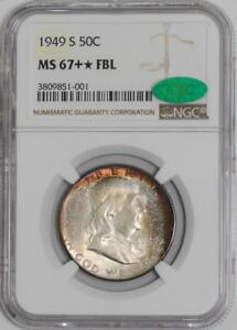 Click now to see the BUY IT NOW Price! 1949 S FRANKLIN HALF 50C MS67     FBL NGC