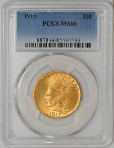 Click now to see the BUY IT NOW Price! 1915 $10 GOLD INDIAN MS66 PCGS