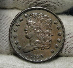 1835 CLASSIC HEAD HALF CENT   NICE COIN  ONLY 398 000 MINTED  6561