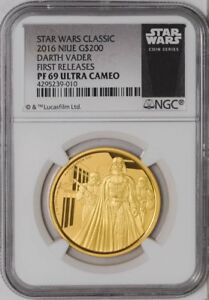 Click now to see the BUY IT NOW Price! 2016 NIUE STAR WARS CLASSIC DARTH VADER 1 OZ GOLD PROOF $200 PF69 UC NGC 1ST REL