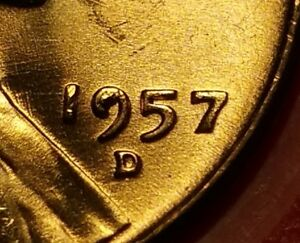 1957 D LINCOLN WHEAT PENNY FILLED 9 ERROR W6613
