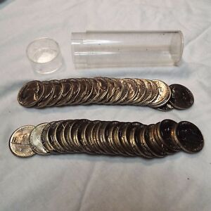 1957 D JEFFERSON NICKEL ROLL FROM ORIGINAL U.S. MINT BAG   BRIGHT & SHINY COINS