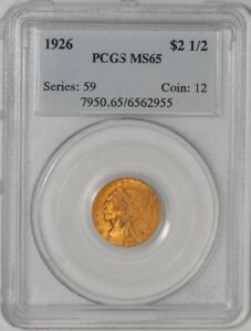 1926 $2 1/2 GOLD INDIAN 6562955 MS65 PCGS
