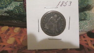 1853 SEATED LIBERTY QUARTER SUPER NICE COIN