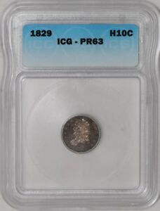 Click now to see the BUY IT NOW Price! 1829 CAPPED BUST HALF DIME H10C PR63 ICG