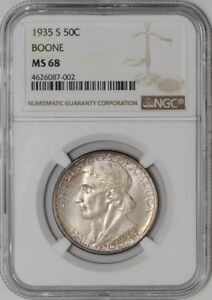 Click now to see the BUY IT NOW Price! 1935 S BOONE 50C 4626087 002 MS68 NGC